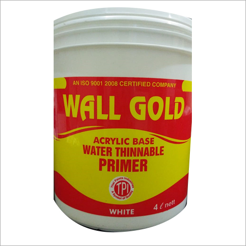 Wall Gold Acrylic Base Water Thinnable Primer