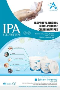 70% ISOPROPYL ALCOHOL SANITIZING  TUB WIPES(14 X 20 CMS)