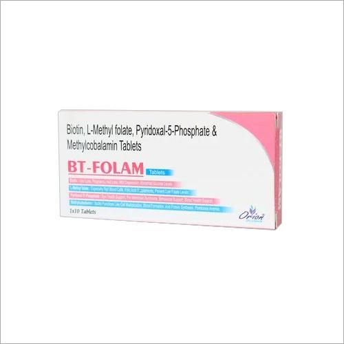 Biotin, L-Methyl Folate, Pyridoxal-5-Phosphate & Methylcobalamin Tablet