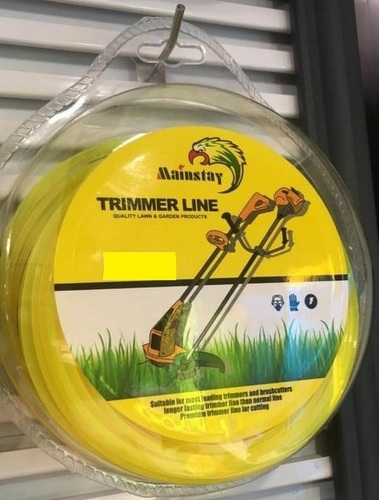 TRIMMER LINE 3MM 50MTR SQURE YELLOW