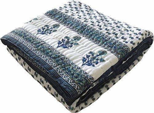 Multicolour Jaipuri Cotton AC Quilt Razai  for Winters
