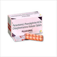 Paracetamol Phenylephrine Hcl And Chlorpheniramine Maleate Tablet Flucoril Tab