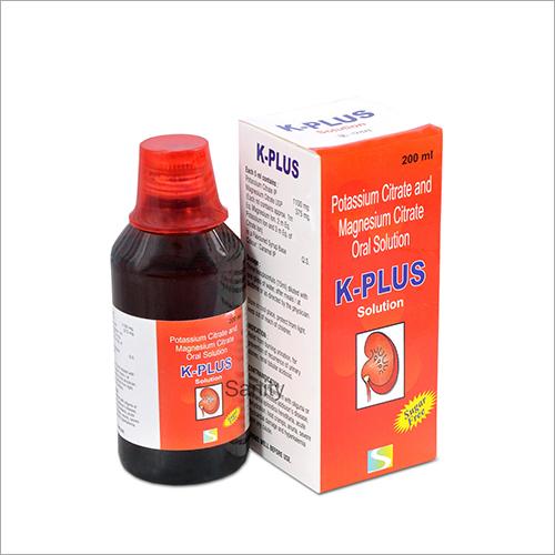 Potassium Citrate And Magnesium Citrate Oral Solution K-Plus