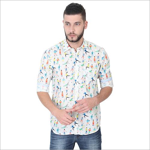 Mens Printed Full Sleeves Shirts