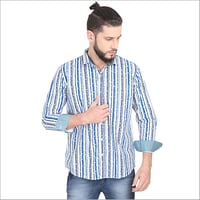 Mens Striped Printed Shirts