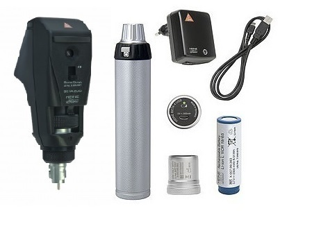 Rechargeable Ophthalmoscope And Retinoscope 3.6v Heine German Combo