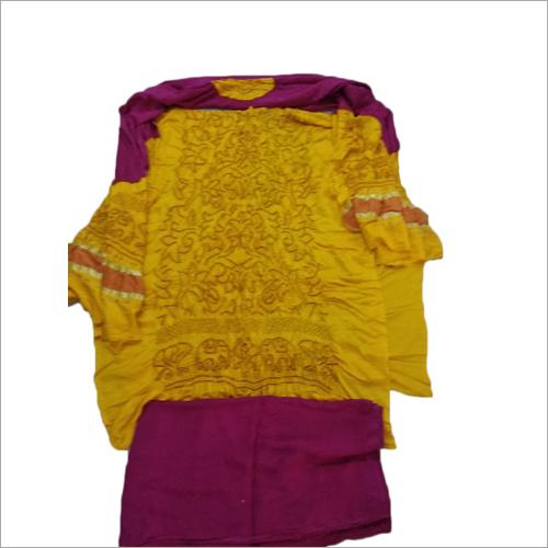 Ladies Pure Gajji Silk Suit Material