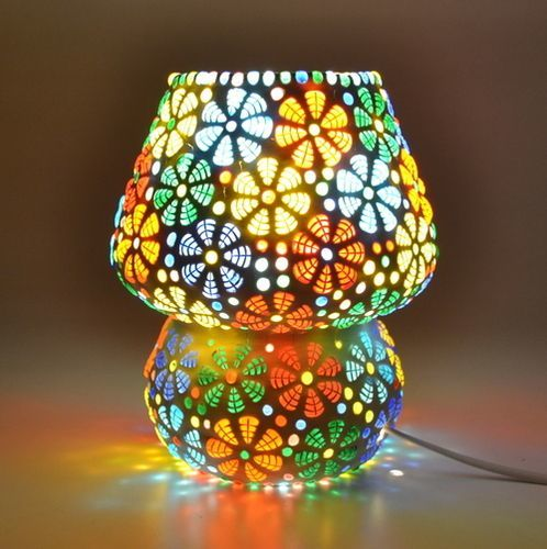 Supershine Mosaic lamp for Home Decor Bed Side Lamp with Multicolour