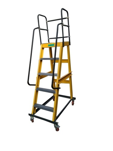 FRP / GRP Movable Platform Ladder- Light Duty