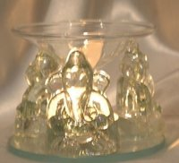 Transparent Indian Religion Glass Ganesha Murti With T Light Candle