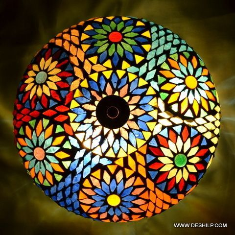 Multicolor Barfi Mosaic Ceiling Lamp