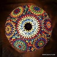 Glass Mosaic Ceiling Light