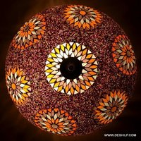 Brown Mosaic Antique Wall Ceiling Light
