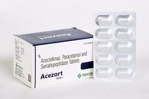 Aceclofenac,Paracetamol and Serratiopeptidase Tablets