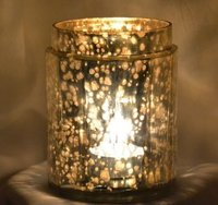 Modern Glass Mosaic Candle Holder