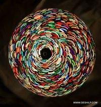 Mosaic Glass Ceiling Light