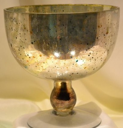 Antique Hurricane Candle Holder