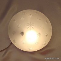 Glass Ball Ceiling Light
