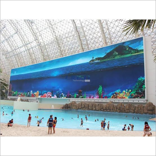 Wall Mounted Curved Outdoor LED Display