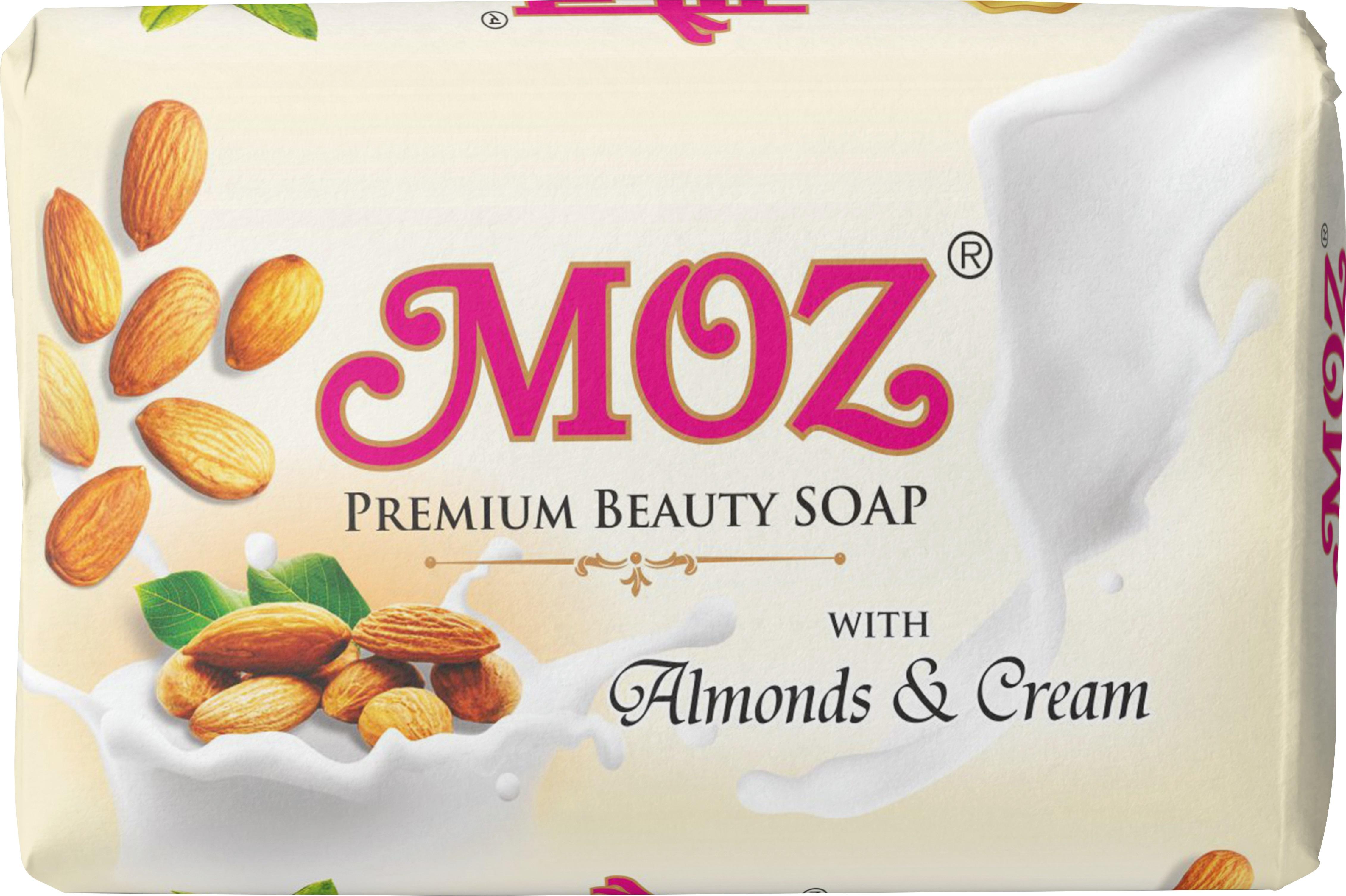 Moz Almond & Cream Bath Soaps 125 grams
