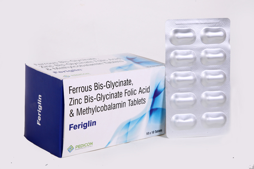 FERROUS BISGLYCINATE, ZINC BISGLYCINATE, FOLIC ACID & METHYLCOBAL