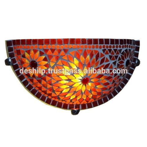 Glass Mosaic Wall Up-Lighter , Wall Scones ,Glass Mosaic Wall Up-Lighter , Wall Scones , Interior Wall Lamps , Antique Wall Lamps