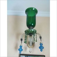 Green Glass Wall Up Side Lamp