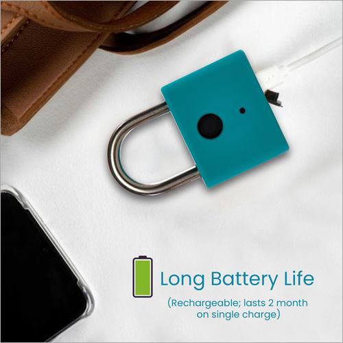 Fingerprint Single Charger Smart Pad Lock