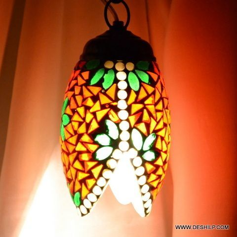 Multicolor Antique Shape Glass Mosaic Wall Hanging