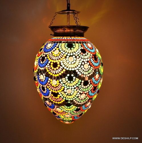 Multicolor Glass Decoration Lamp Diwali Festival Hanging Lamp