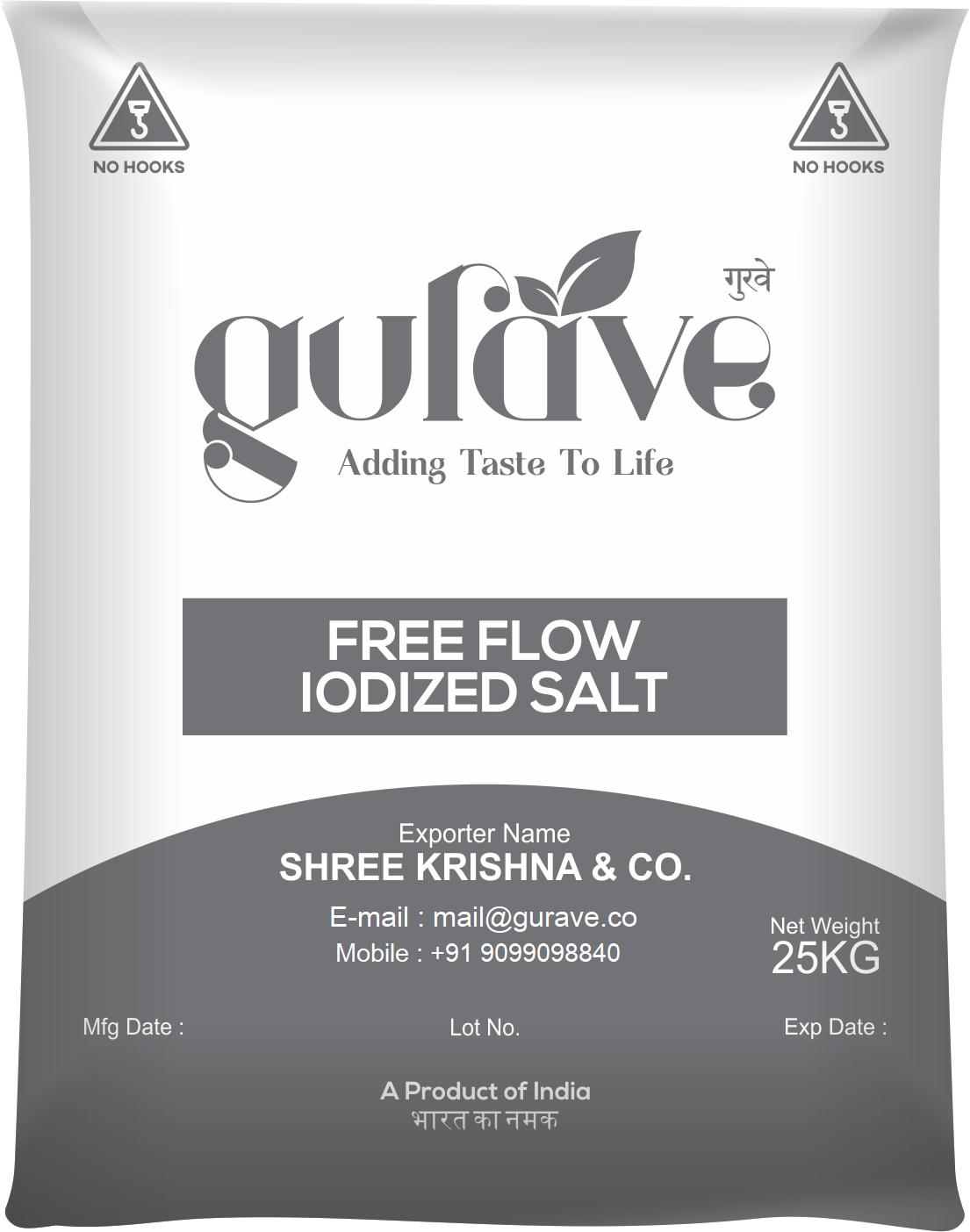 Triple Refined Free Flow Salt