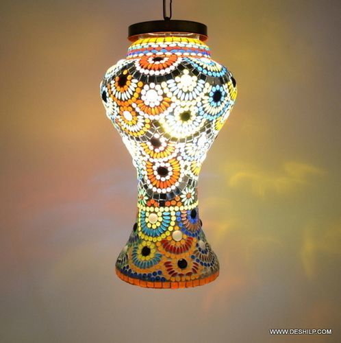 Multicolor Light Hand Painted Hanging Light Glass Hanging Lamp Hanging