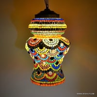Multicolor Design Glass Hanging Light Decorative Items