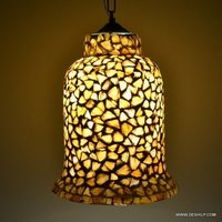 Yellow Seap Glass Decor Wall Hanging Lamp