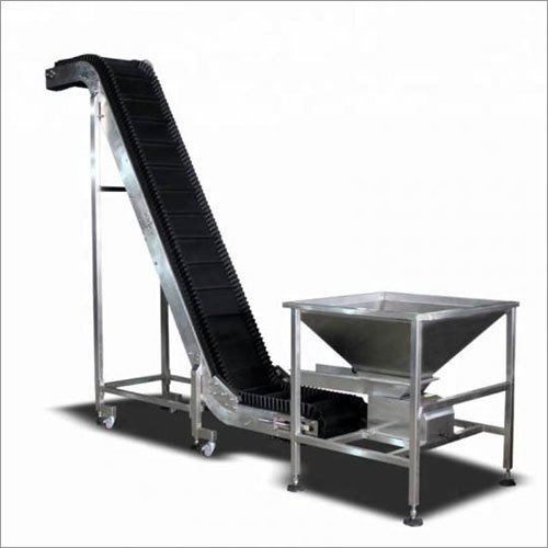SS Sidewall Cleated Belt Conveyor