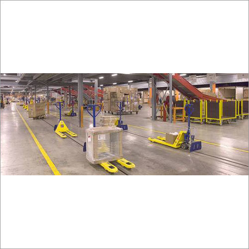 Tow Line Conveyor with Pallet Truck