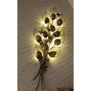 Iron Handicraft  Wall Decor Leafs Bunch Led