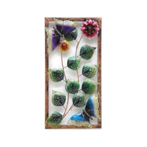 Iron Handicraft  Wall Decor Flower In Frame