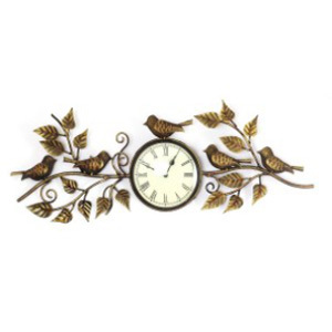 Iron Handicrafts Wall Decor Clock With 5 Birds