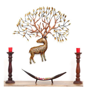 Iron Wall Decor Deer with Horn