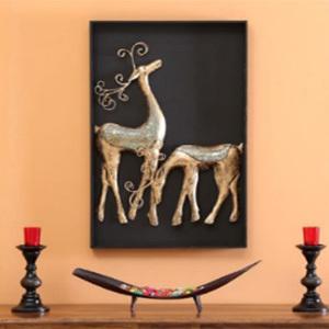 Iron Handicraft  Wall Decor Deer Couple