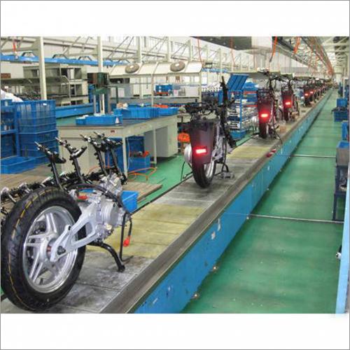Assembly Line Slat Conveyor