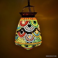 Multicolor Style Stained Glass Hanging Ceiling Lamp Light Shade