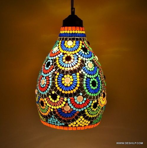 Multicolor Glass Decoration Hanging Lamp Diwali Festival