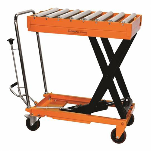 Hydraulic Scissor Table With Roller Top