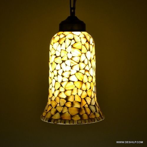 Yellow Mother Of Pulse Glass Wall Hanging Lamp