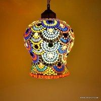 Multicolor Decor Vintage Antique Hanging Pendant Lite