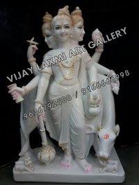 White Marble Dattatreya Idols