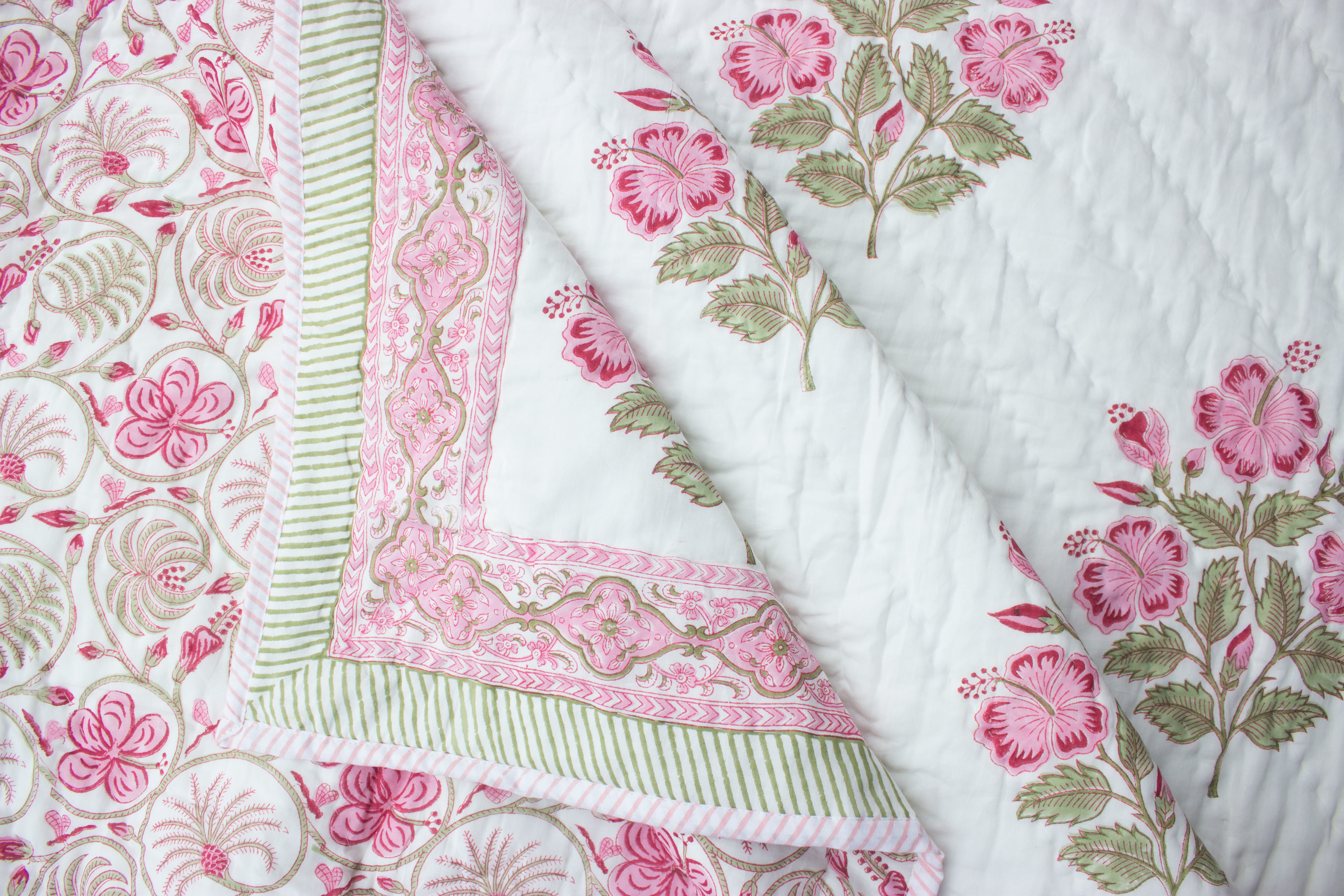 Hand Block Printed Quilts