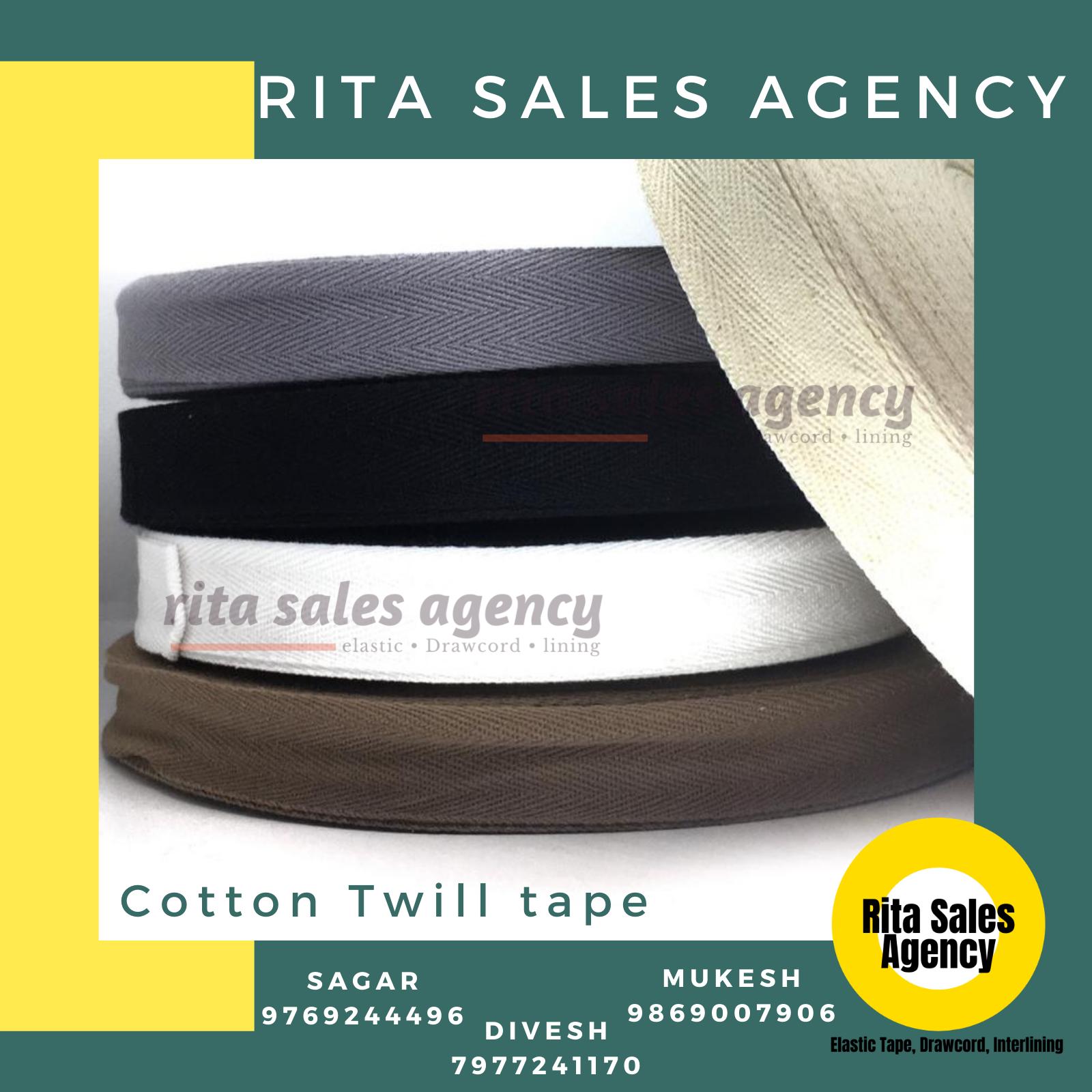 Cotton / Spun Polyester Twill Tape / Herringbone Tape